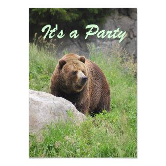 ワシントン州ヒグマ-パーティの招待状 カード
