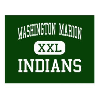 ワシントン州マリオン-インディアン- Lake Charles ポストカード