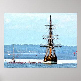 ワシントン州女性船ポスター ポスター