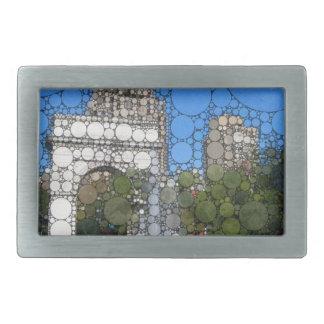 ワシントン州抽象的な正方形公園ニューヨーク 長方形ベルトバックル