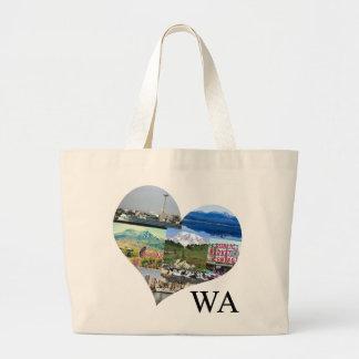 ワシントン州旅行バッグ ラージトートバッグ