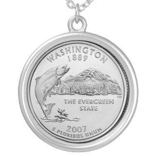ワシントン州 シルバープレートネックレス