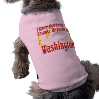ワシントン州-神は私を愛します ペット服