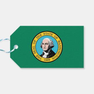 ワシントン州、米国の旗が付いているギフトのラベル ギフトタグ