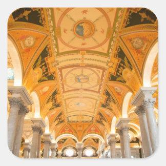 ワシントン州、|D.C.|米国|二番目に|床|道 正方形シール・ステッカー