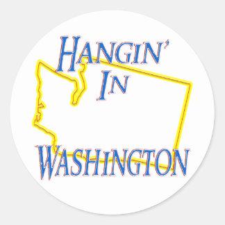 ワシントン州- Hangin ラウンドシール