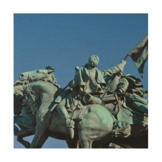 ワシントン州DC_の内戦の兵士の彫像 ウッドウォールアート