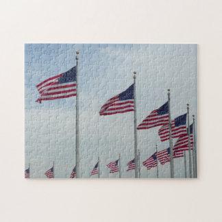 ワシントン記念塔の米国旗 ジグソーパズル