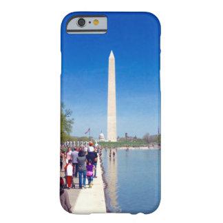 ワシントン記念塔及び反射池の電話箱 BARELY THERE iPhone 6 ケース