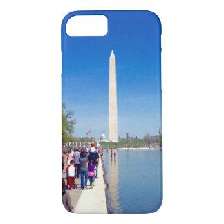 ワシントン記念塔及び反射池の電話箱 iPhone 8/7ケース