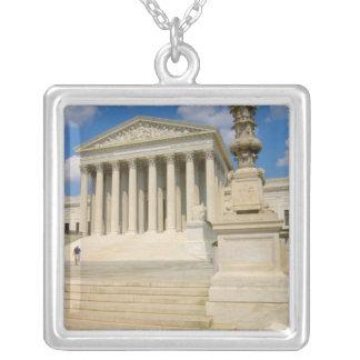 ワシントンD.C.、の最高裁判所の建物 シルバープレートネックレス
