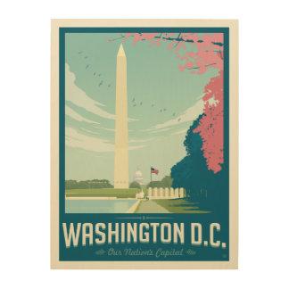 ワシントンD.C.、-私達の国家の首都 ウッドウォールアート