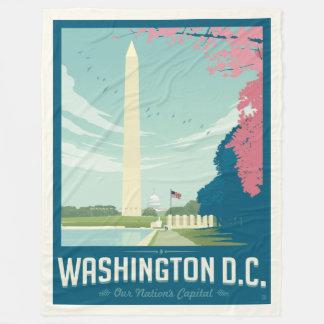 ワシントンD.C.、-私達の国家の首都 フリースブランケット