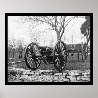 ワシントンD.C.、1862年の6挺のポンドのミサイル発射機銃 ポスター