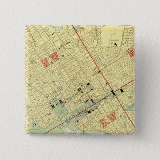 ワシントンD.C.、 5.1CM 正方形バッジ