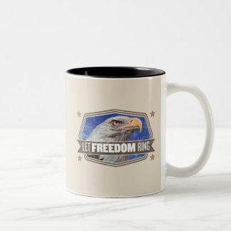 ワシ自由のリング ツートーンマグカップ