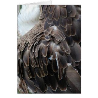 """""""ワシ""""は挨拶状に羽をつけます カード"""