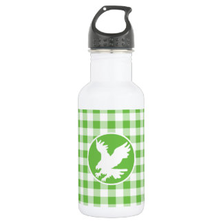 ワシ; 緑のギンガム ウォーターボトル