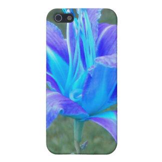 ワスレグサ: 紫色Nの青のiphone 4ケース iPhone 5 Case