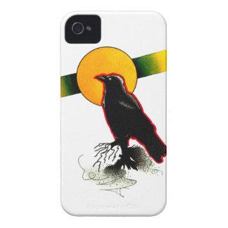 ワタリガラスおよび月の水彩画 Case-Mate iPhone 4 ケース