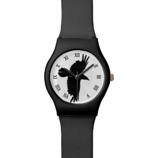 ワタリガラスのカラスの野性生物の鳥のワタリガラス恋人 腕時計