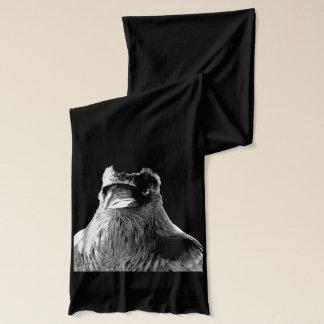 ワタリガラスのスカーフのワタリガラスの鳥のスカーフのカッコいいのワタリガラスのギフト スカーフ
