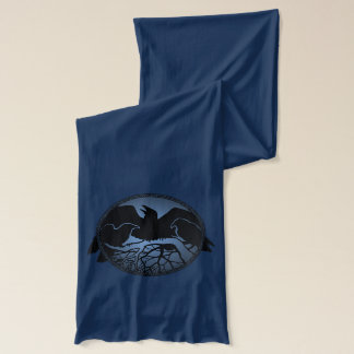ワタリガラスのスカーフのワタリガラスの鳥のスカーフのカラスのワタリガラスのギフト スカーフ