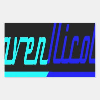 ワタリガラスのニコールのロゴ 長方形シール