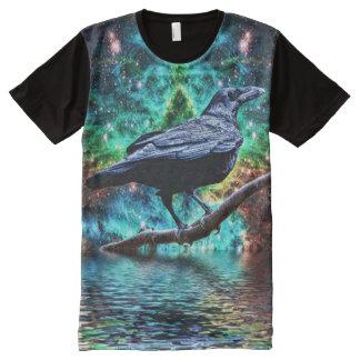 ワタリガラスのハロウィンの神秘的なTシャツ オールオーバープリントT シャツ