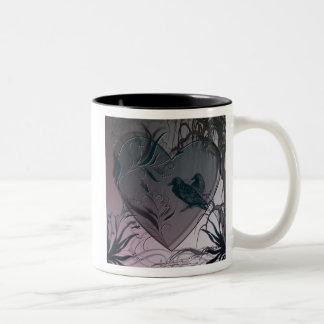 ワタリガラスのハート ツートーンマグカップ