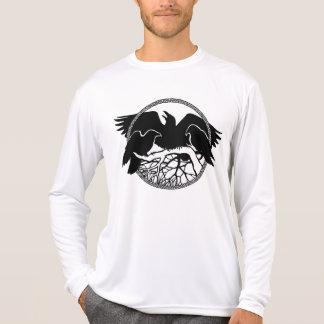 ワタリガラスのワイシャツのワタリガラスのカッコいいのカラスによって合われる鳥ジャージー Tシャツ