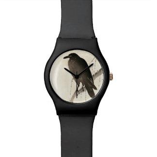 ワタリガラスの日本のなスケッチ 腕時計