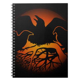 ワタリガラスの芸術のノートのカラスの芸術ジャーナル本 ノートブック