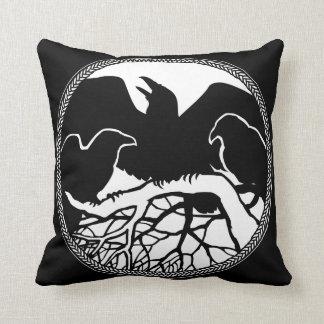 ワタリガラスの芸術の枕最初国家の野性生物の枕 クッション