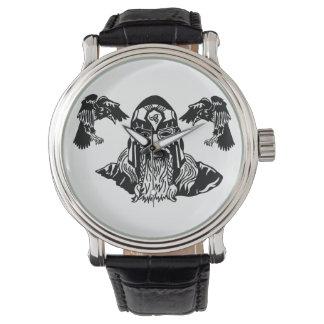 ワタリガラスを持つ全父Odin 腕時計