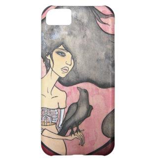 ワタリガラスを持つ骨組女性 iPhone5Cケース