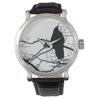 ワタリガラス-ツリーブランチの詩人 腕時計