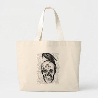 ワタリガラスPoeのバッグ ラージトートバッグ