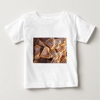 ワッフルのハート ベビーTシャツ