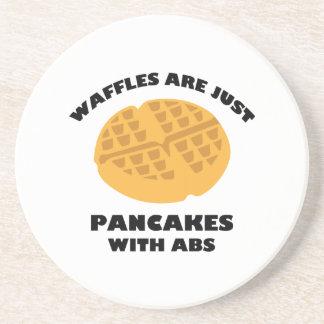 ワッフルはABSが付いているちょうどパンケーキです コースター