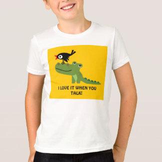 ワニおよびカラスの子供のワイシャツ Tシャツ