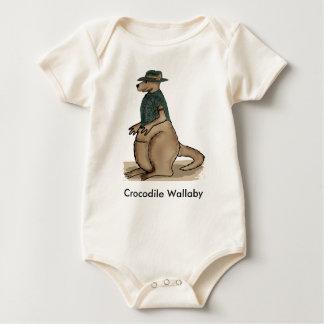 ワニのワラビーのベビーのワイシャツ ベビーボディスーツ