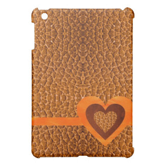 ワニの金ゴールドのFalshの革Speckの場合 iPad Miniケース