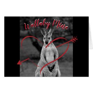 ワラビー鉱山のハートのバレンタインデーのオーストラリアカード カード