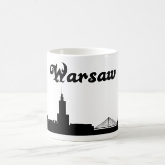 ワルシャワポーランドの陸標のギフトのマグ コーヒーマグカップ