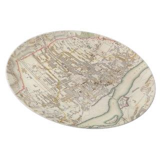 ワルシャワポーランド(1831年)のヴィンテージの地図 プレート