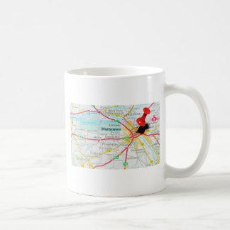 ワルシャワ、ポーランドのワルシャワ コーヒーマグカップ