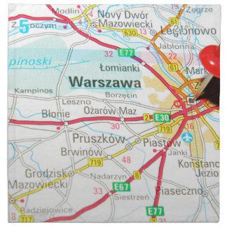 ワルシャワ、ポーランドのワルシャワ ナプキンクロス