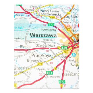 ワルシャワ、ポーランドのワルシャワ レターヘッド