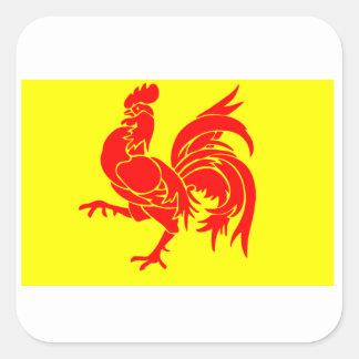 ワロン地域圏の旗 スクエアシール